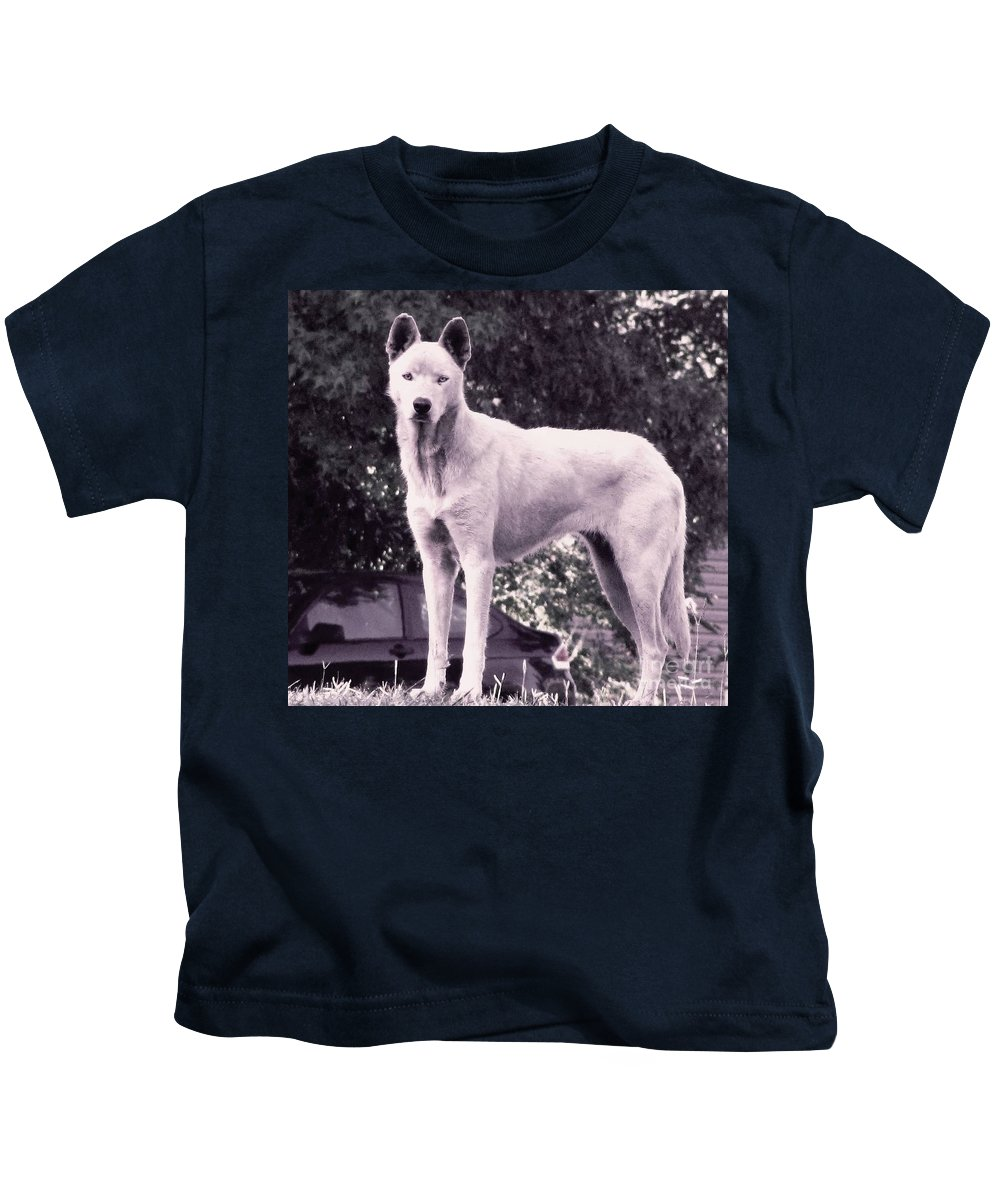 Wolf Kids T-Shirt featuring the photograph Ghost The Wolf by Maria Urso