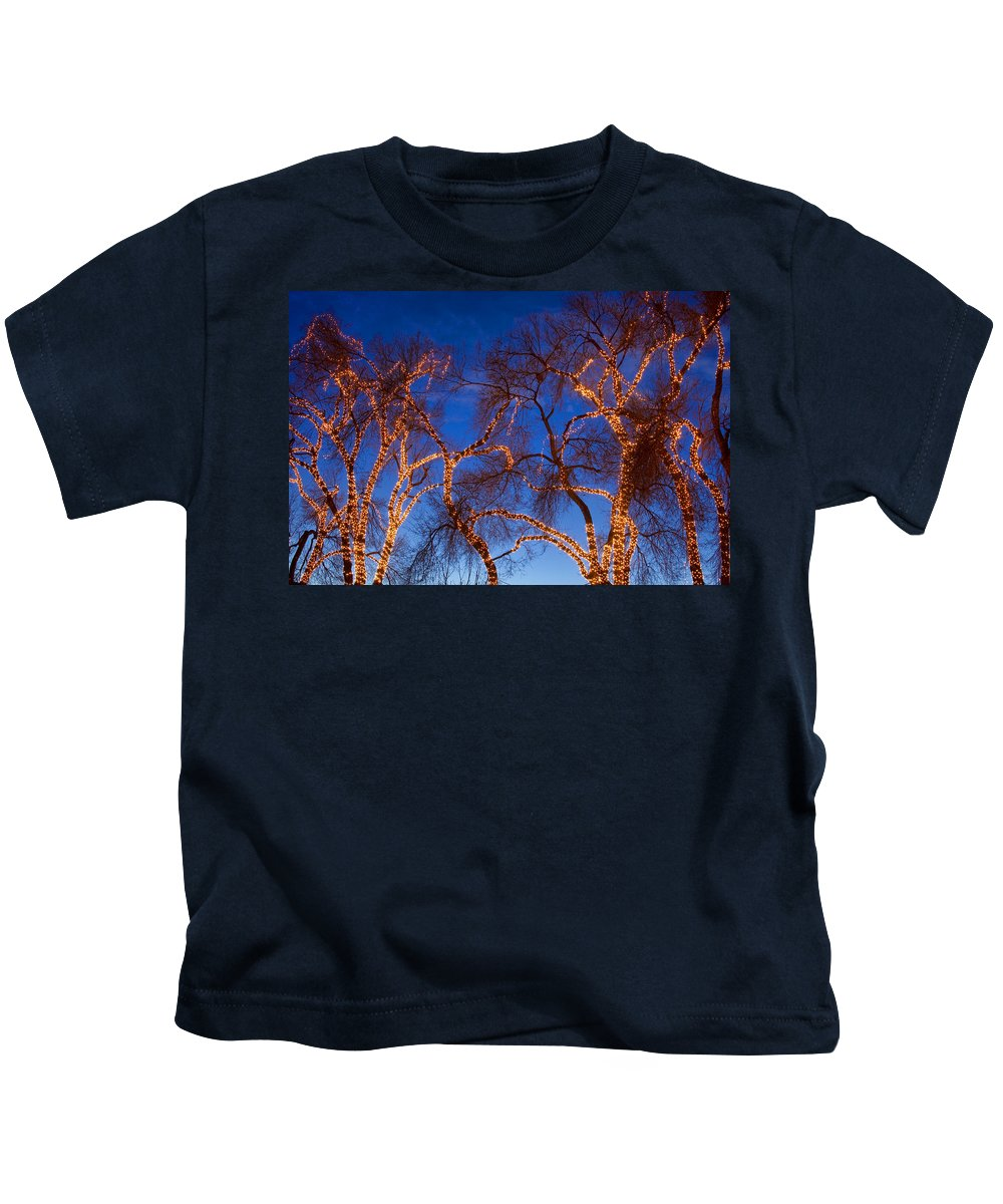 Trees Kids T-Shirt featuring the photograph Glowing Trees by James BO Insogna