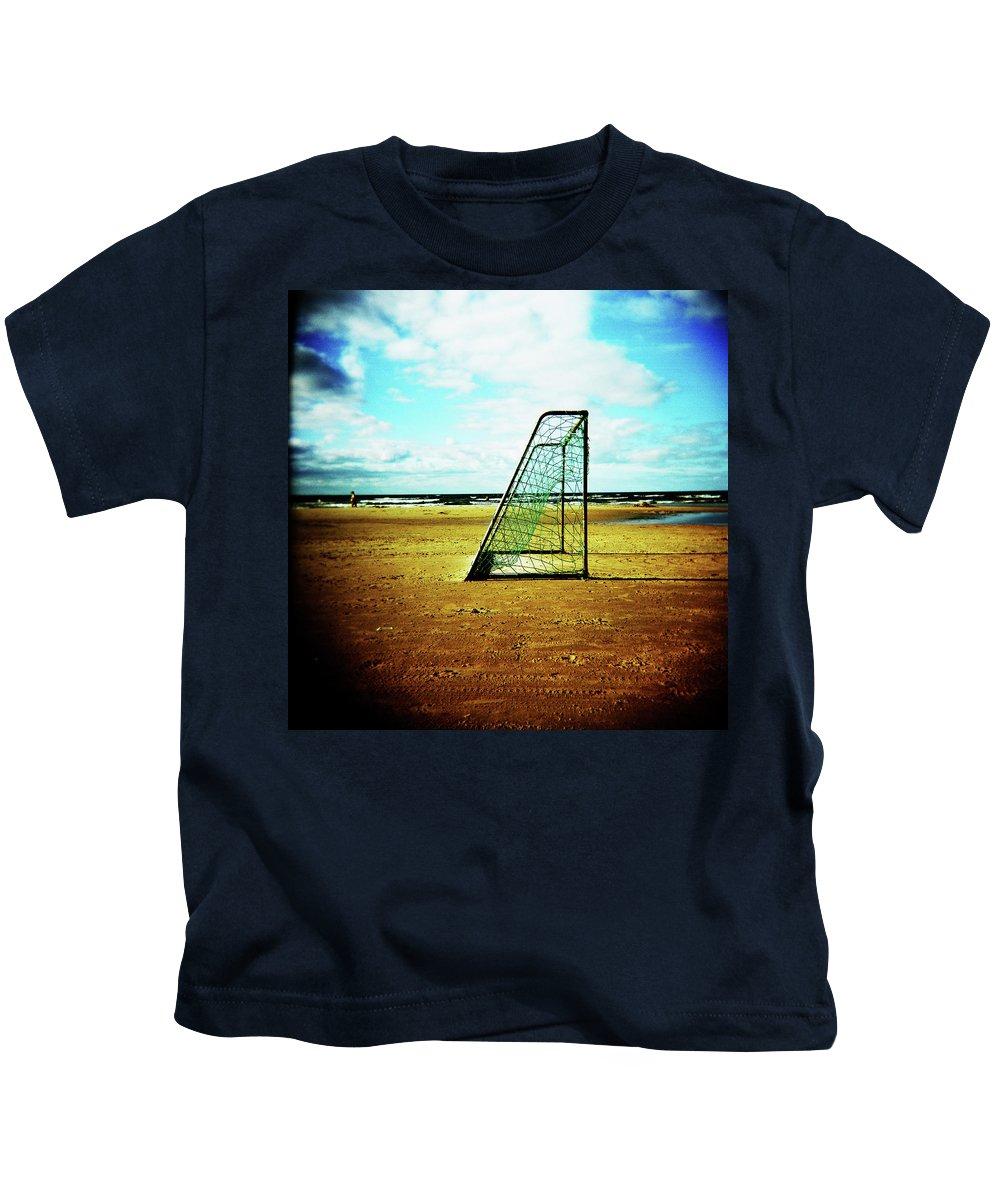 Holga Kids T-Shirt featuring the photograph Goal by Olivier De Rycke