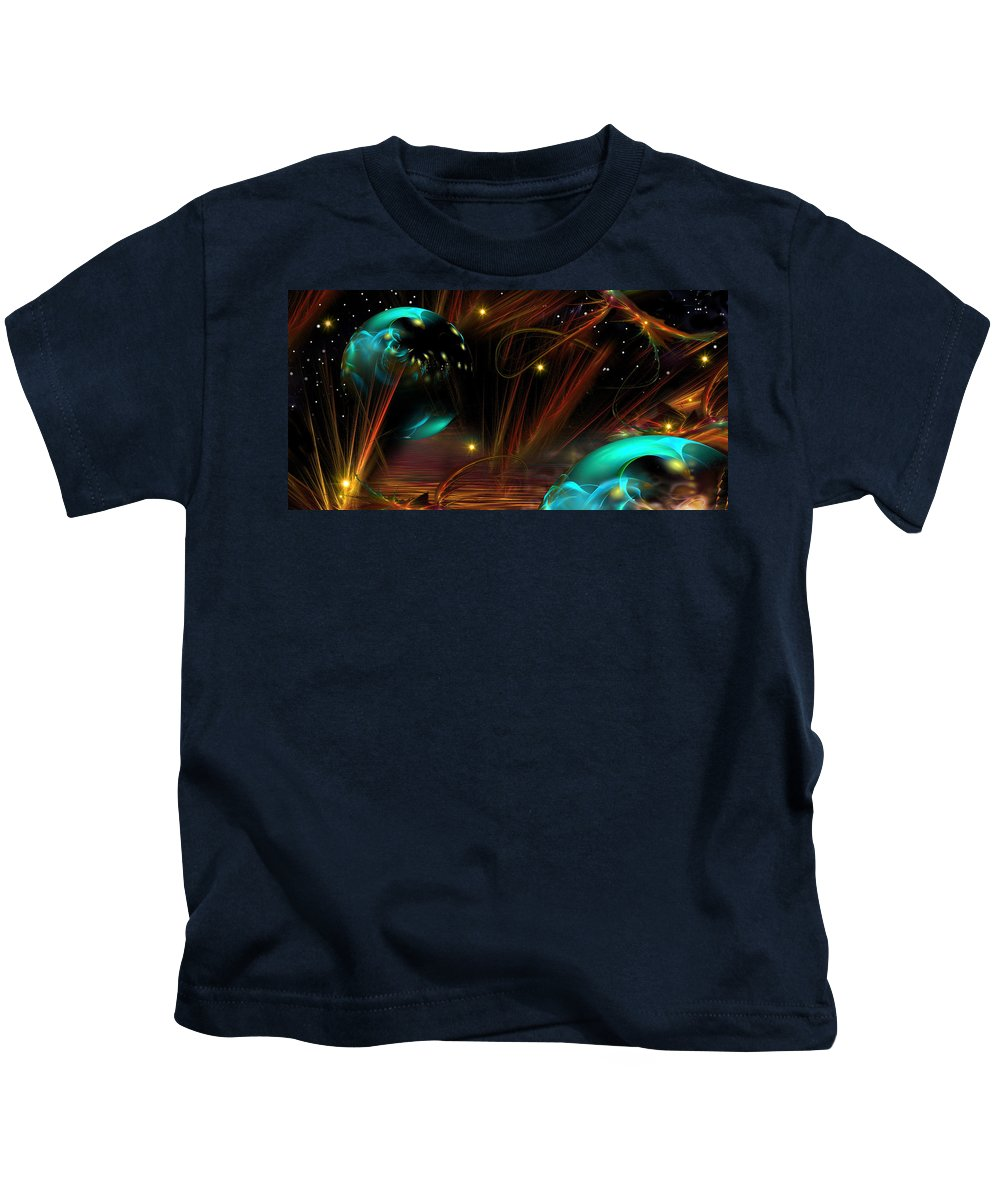 Phil Sadler Kids T-Shirt featuring the digital art Hot Dawg by Phil Sadler