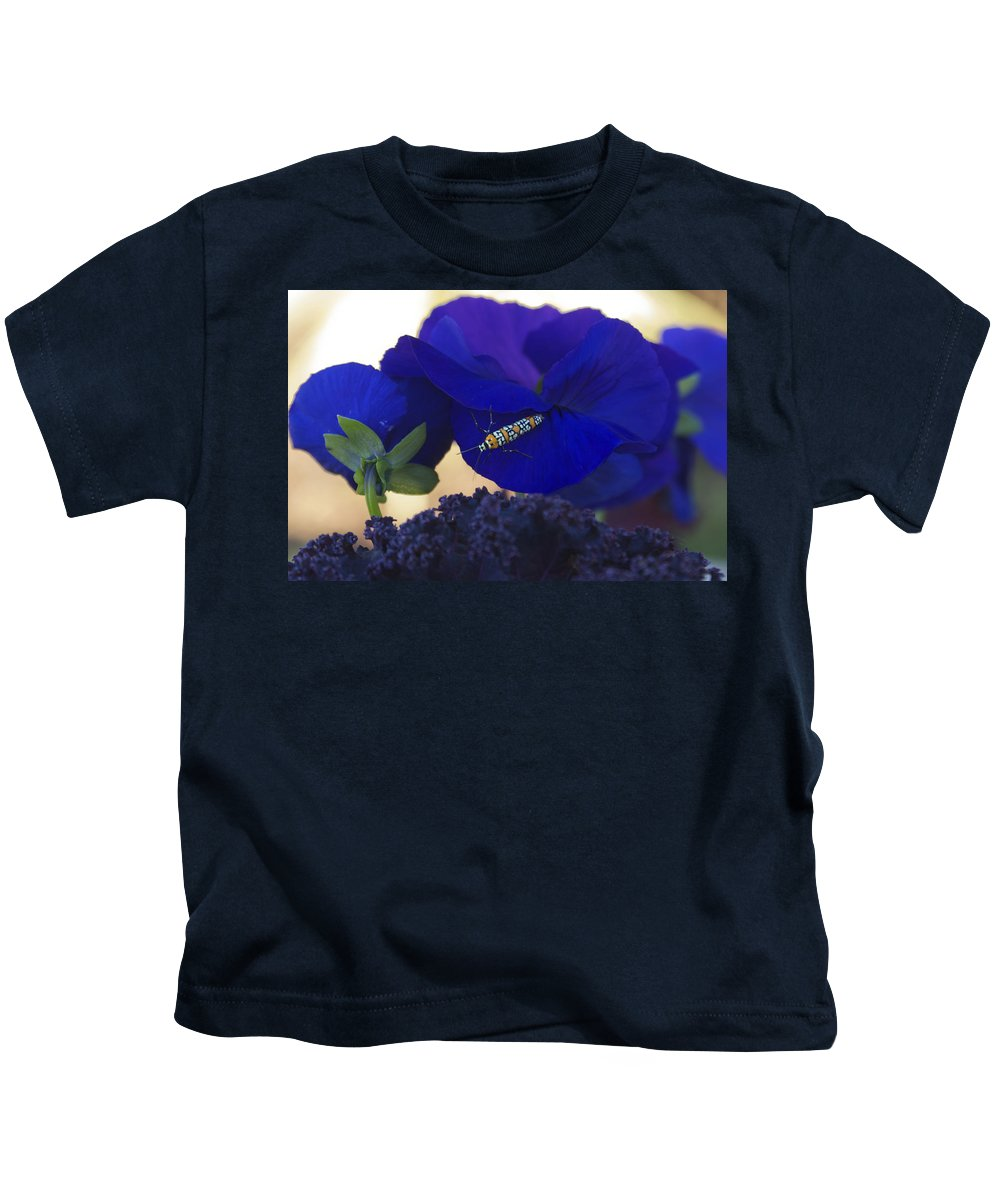 Insect Kids T-Shirt featuring the photograph Insect On Flower by Henri Irizarri