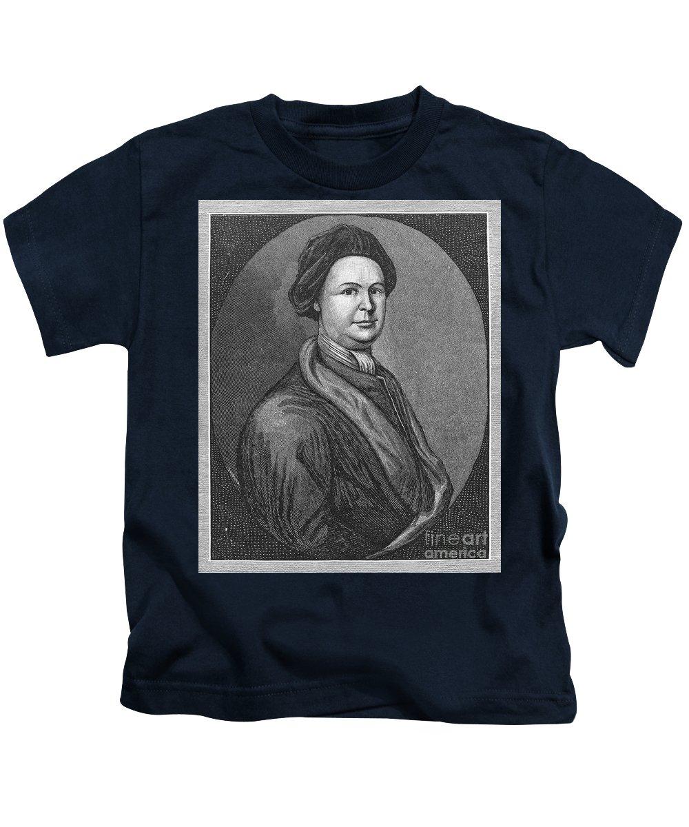18th Century Kids T-Shirt featuring the photograph John Lovell (1710-1778) by Granger