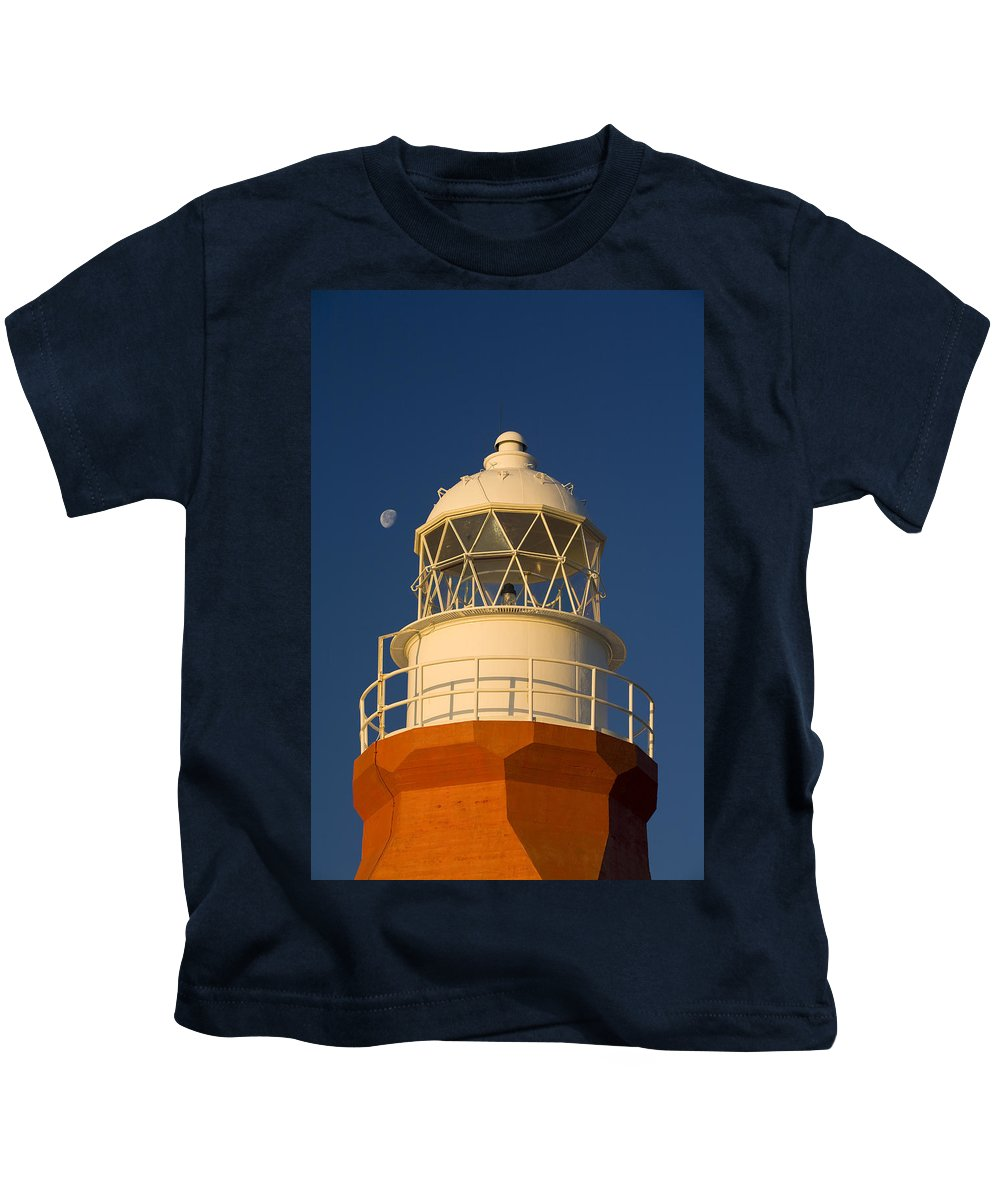 Architectural Details Kids T-Shirt featuring the photograph Long Point Lighthouse by John Sylvester
