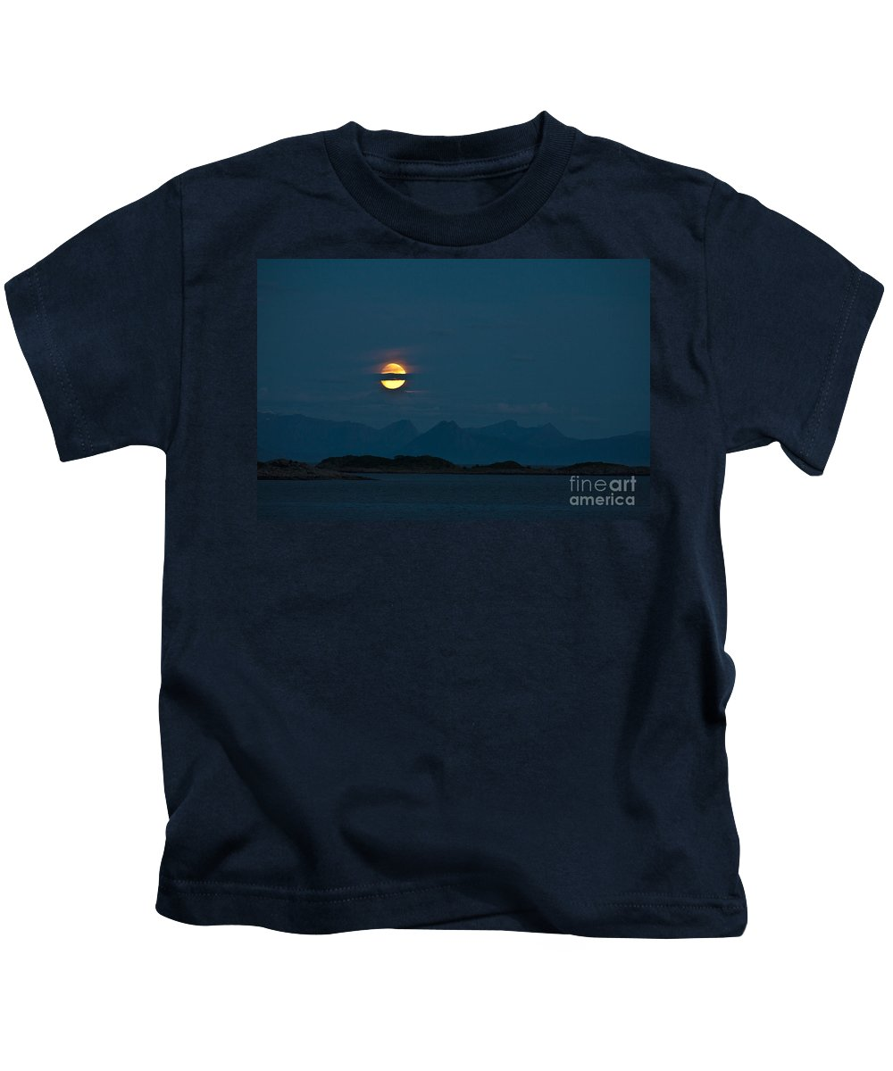 Landscape Kids T-Shirt featuring the photograph Moonlight Series - 3 by Heiko Koehrer-Wagner