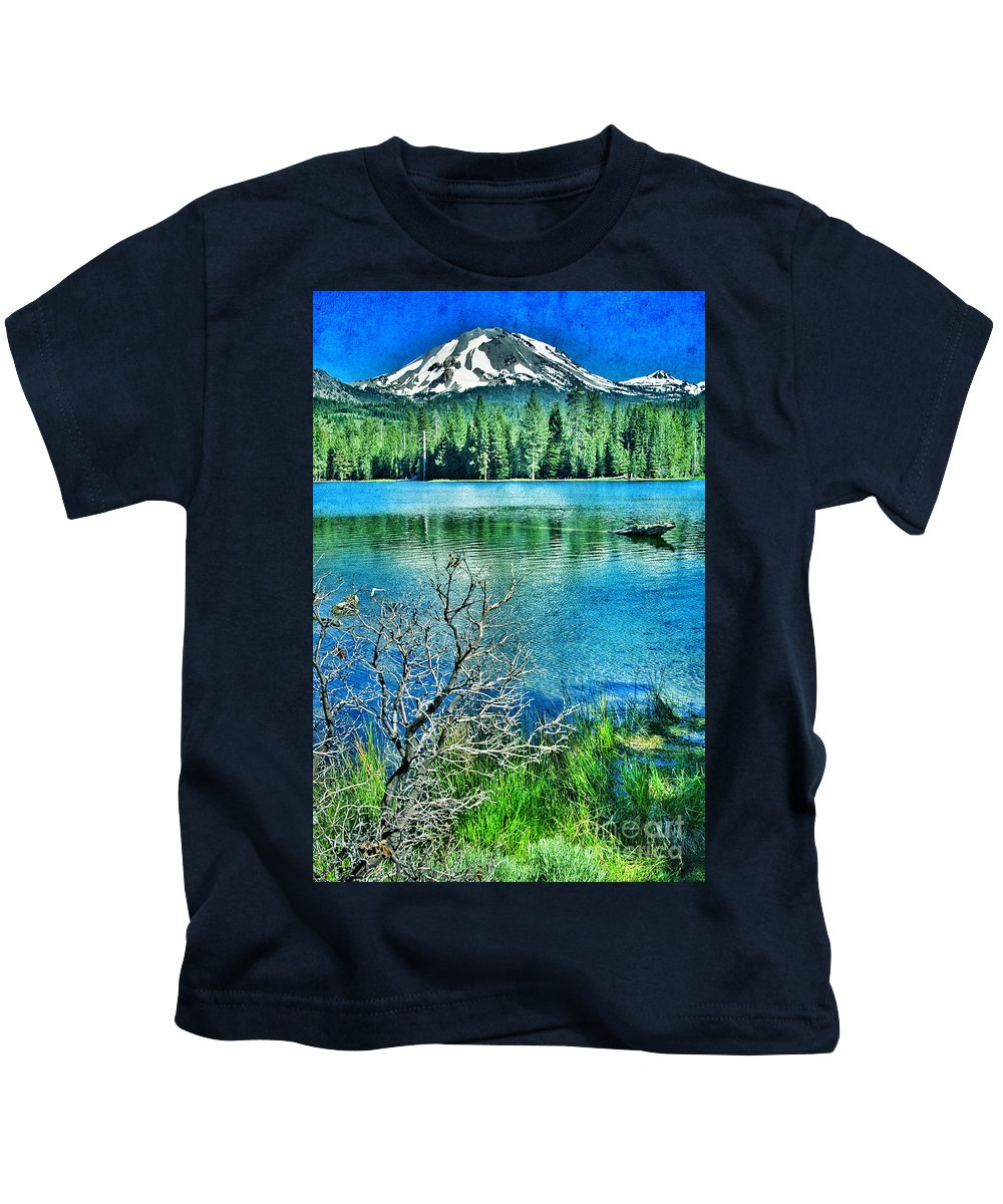Lassen Mountain Kids T-Shirt featuring the photograph Mt Lassen by Jill Battaglia
