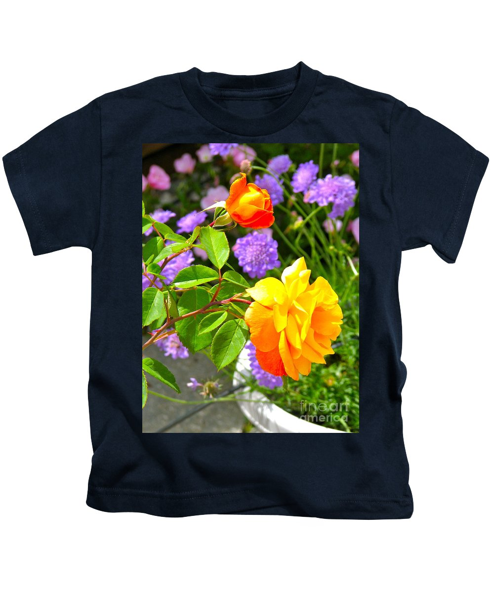 Roses Kids T-Shirt featuring the photograph My Beautiful Roses by Phyllis Kaltenbach