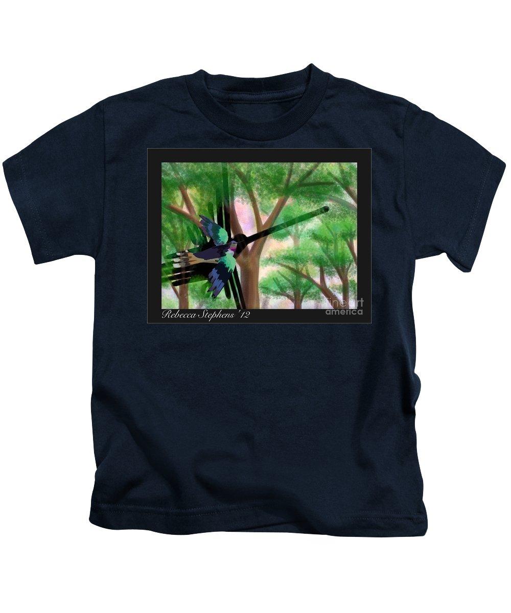 Hummingbird Kids T-Shirt featuring the painting Nazca Hummingbird by Rebecca Stephens