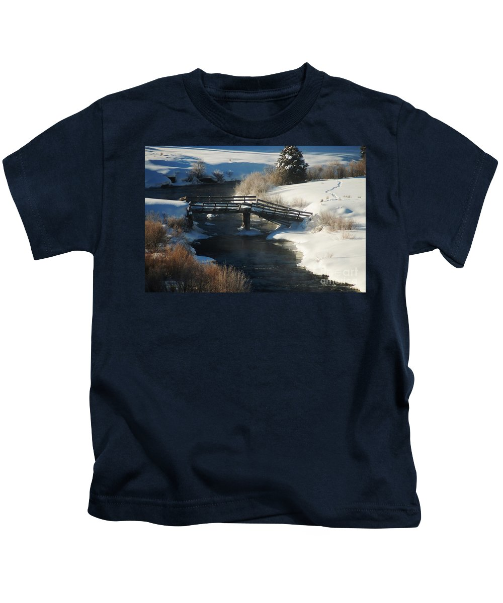Snow Kids T-Shirt featuring the photograph Peaceful Winter Day by Lucy Bounds