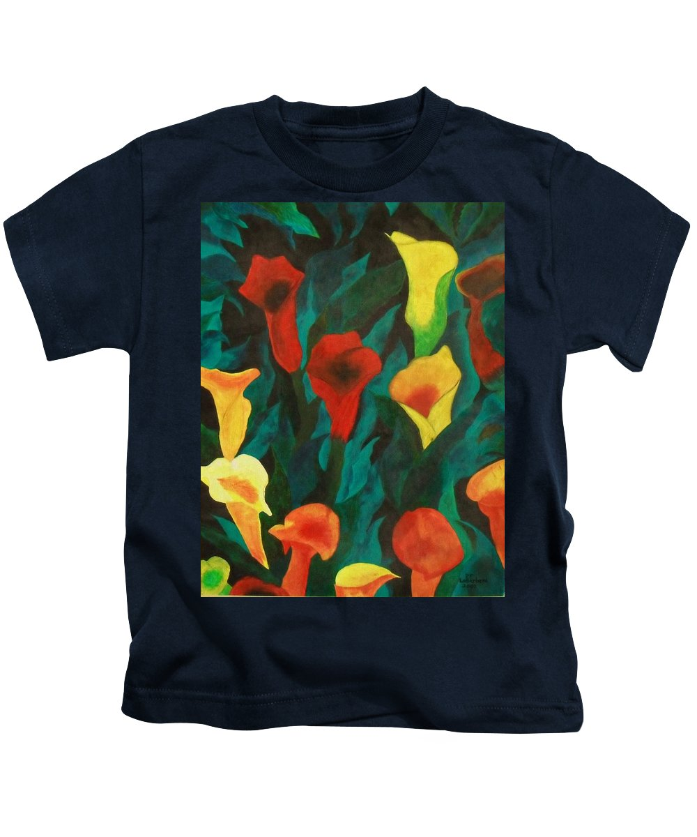 Flowers Kids T-Shirt featuring the painting Picture Of Lily's by Paul F Labarbera