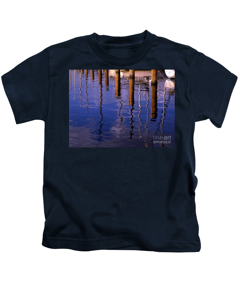 Pier Kids T-Shirt featuring the photograph Pier Reflections by Mike Nellums