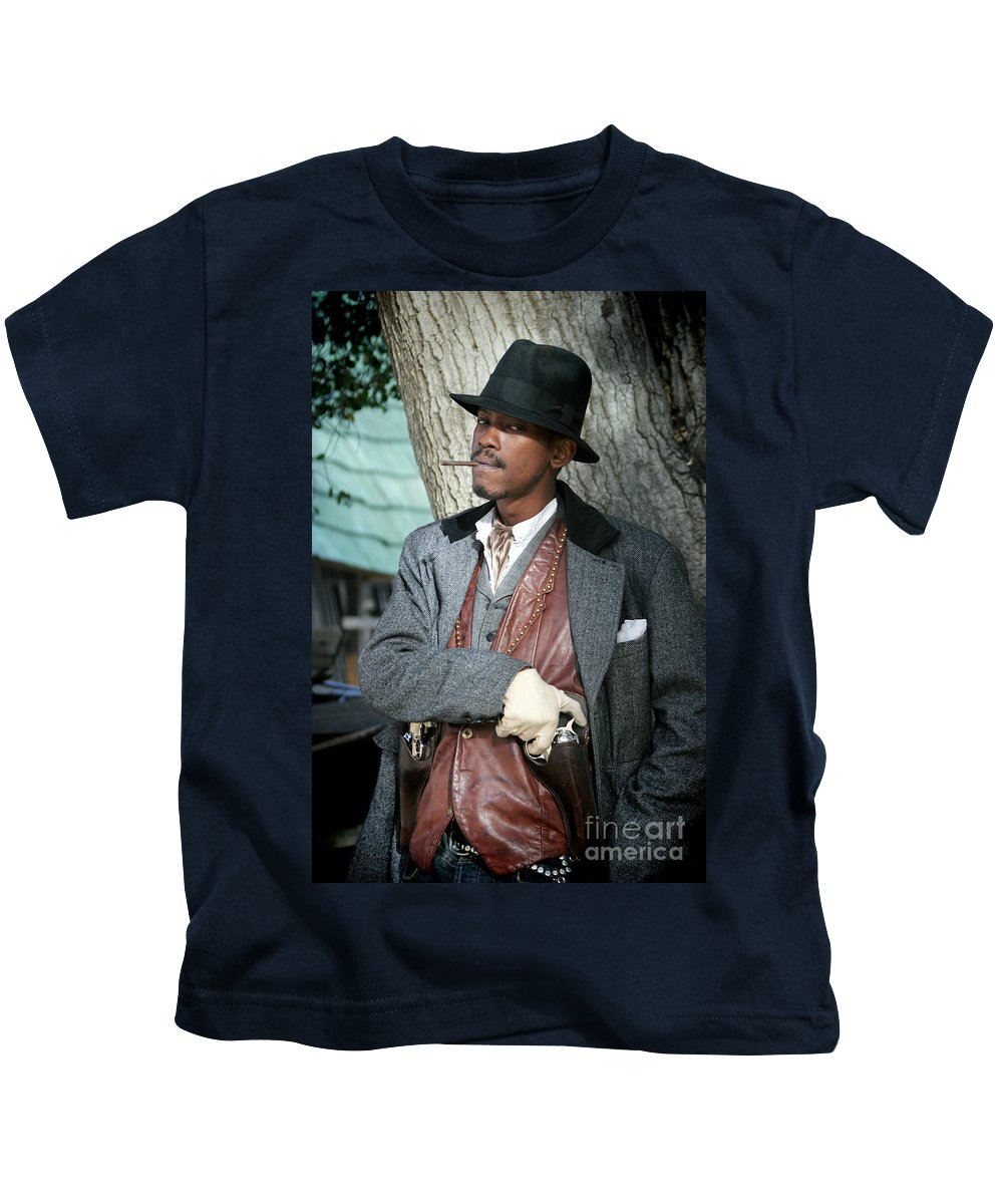 Portrait Kids T-Shirt featuring the photograph Portrait Of Kurupt by Nina Prommer