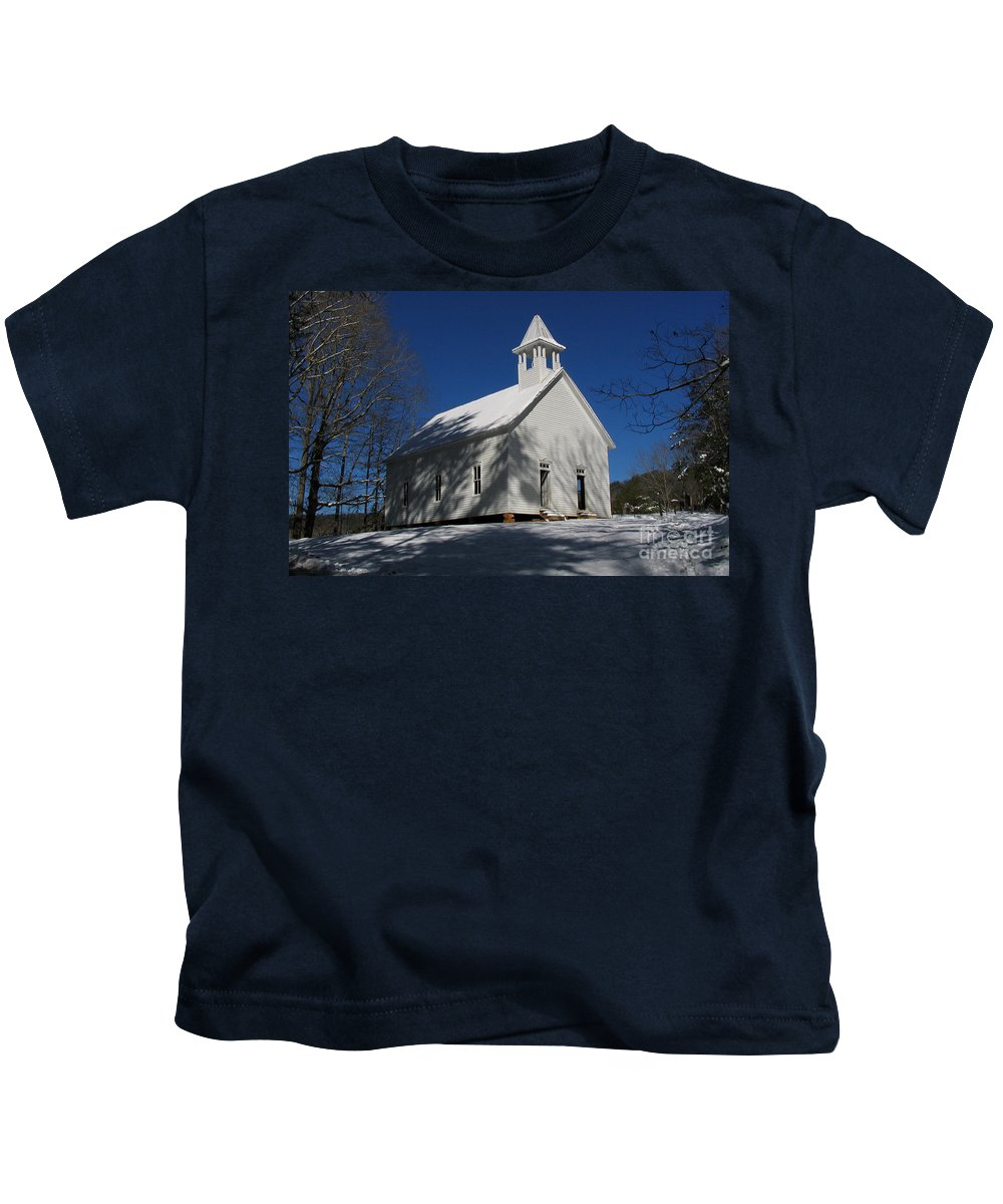 Cades Kids T-Shirt featuring the photograph Primitive Methodist Church by Douglas Stucky