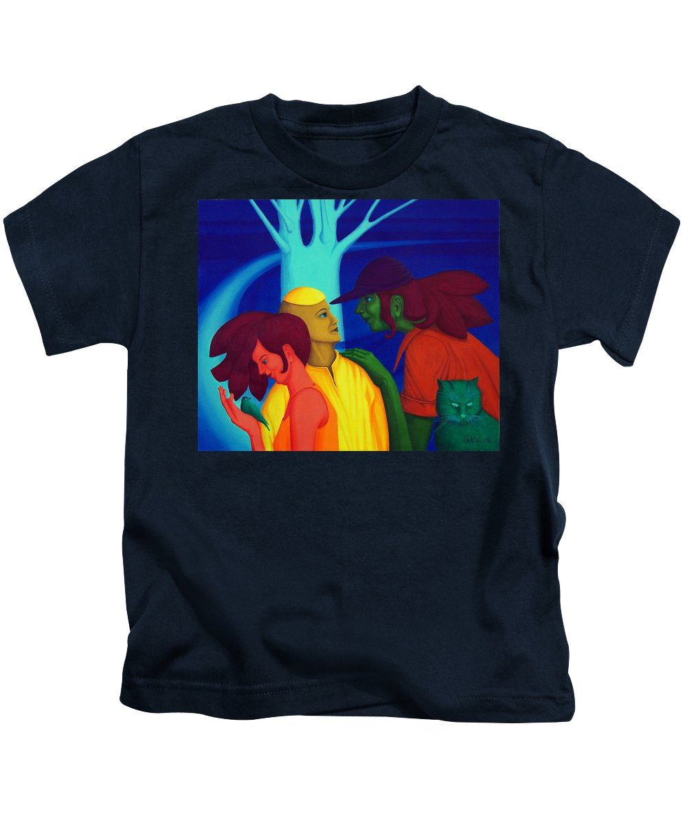 Oil Kids T-Shirt featuring the painting Prompt by Andrzej Pietal