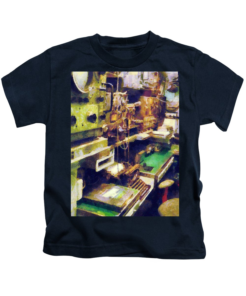 Radio Kids T-Shirt featuring the photograph Radio Room by Susan Savad