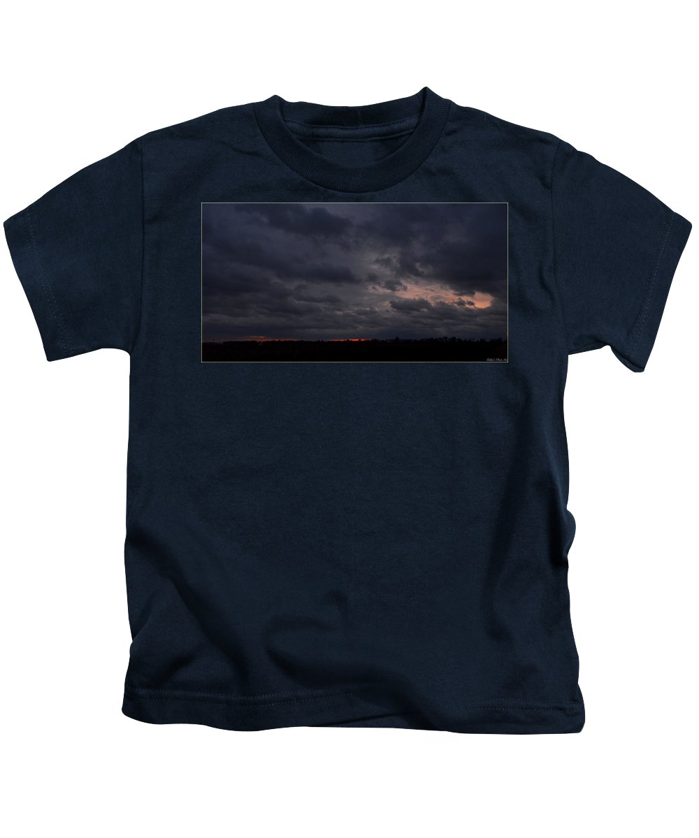 Clouds Kids T-Shirt featuring the photograph Red Sky In The Morning by Debbie Portwood