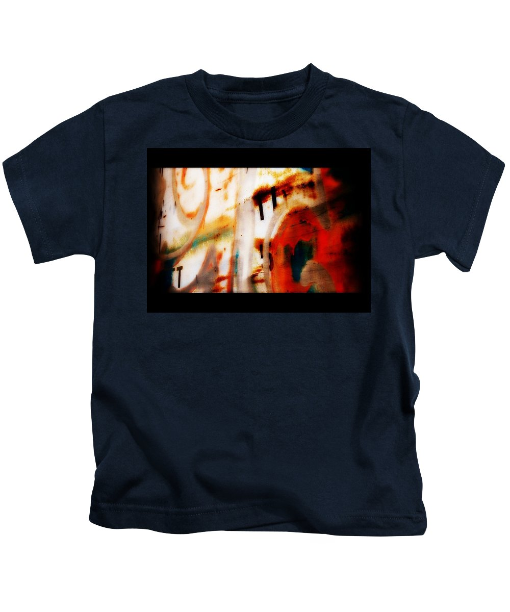 Rust Kids T-Shirt featuring the photograph Rusted Paint by Michele Nelson