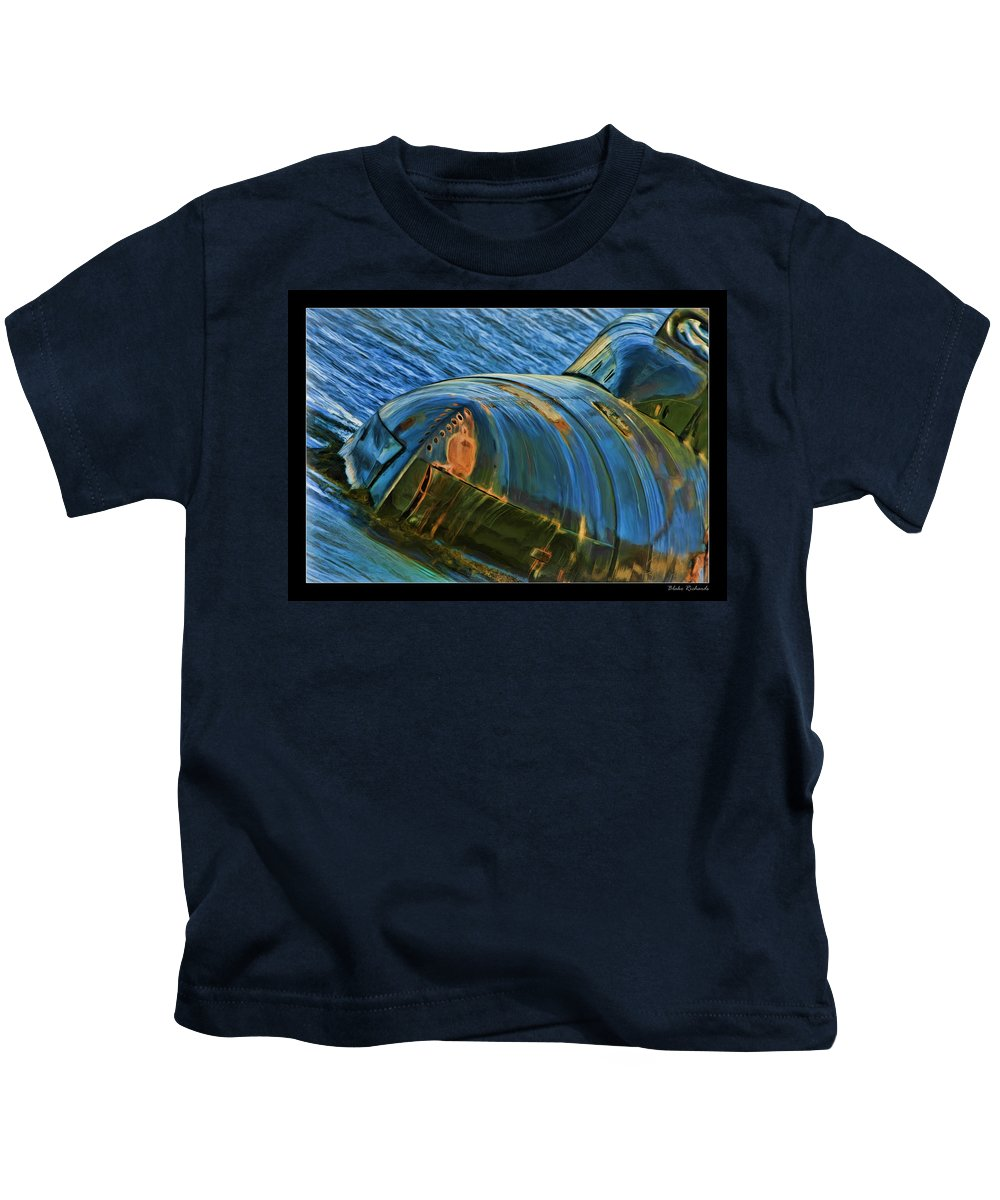 Submarine Kids T-Shirt featuring the photograph Rusted Submarine by Blake Richards