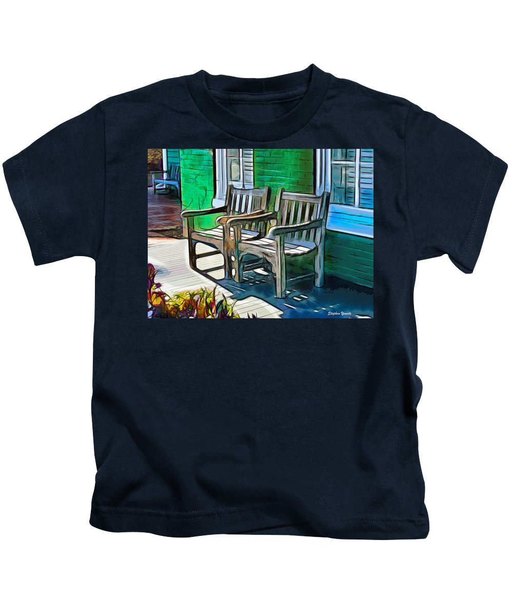 St Kids T-Shirt featuring the digital art Seating For Two by Stephen Younts