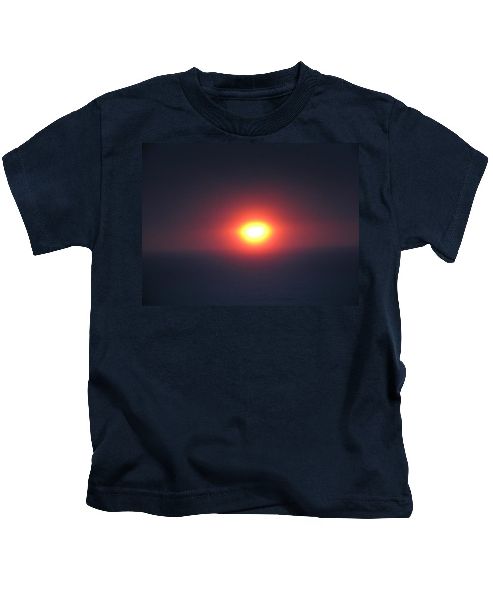 Sunset Kids T-Shirt featuring the photograph Setting Sun by Linda Hutchins