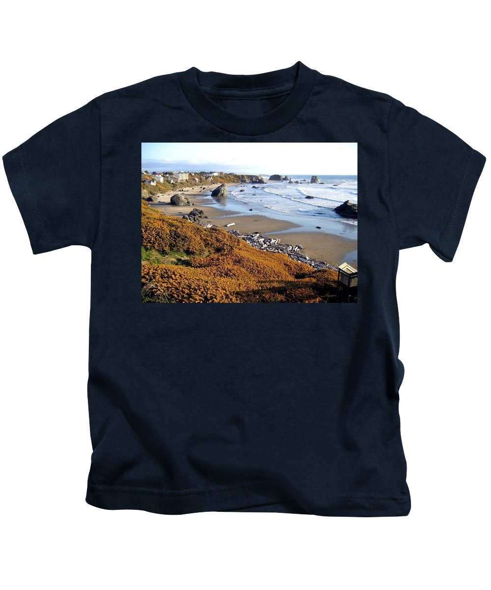 Oregon Kids T-Shirt featuring the photograph Shores Of Oregon by Will Borden
