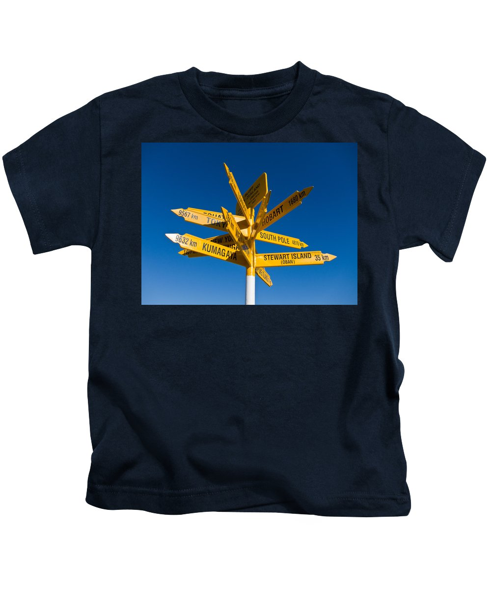 Arrow Kids T-Shirt featuring the photograph Signpost In Sterling Point Bluff by U Schade