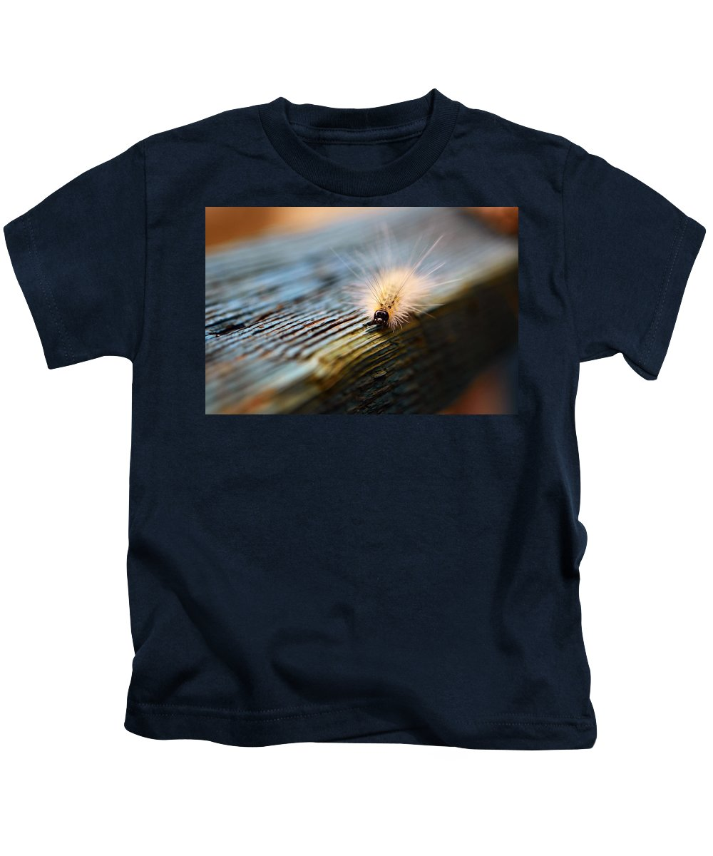 Caterpillar Kids T-Shirt featuring the photograph Something Wicked This Way Comes by Lori Tambakis