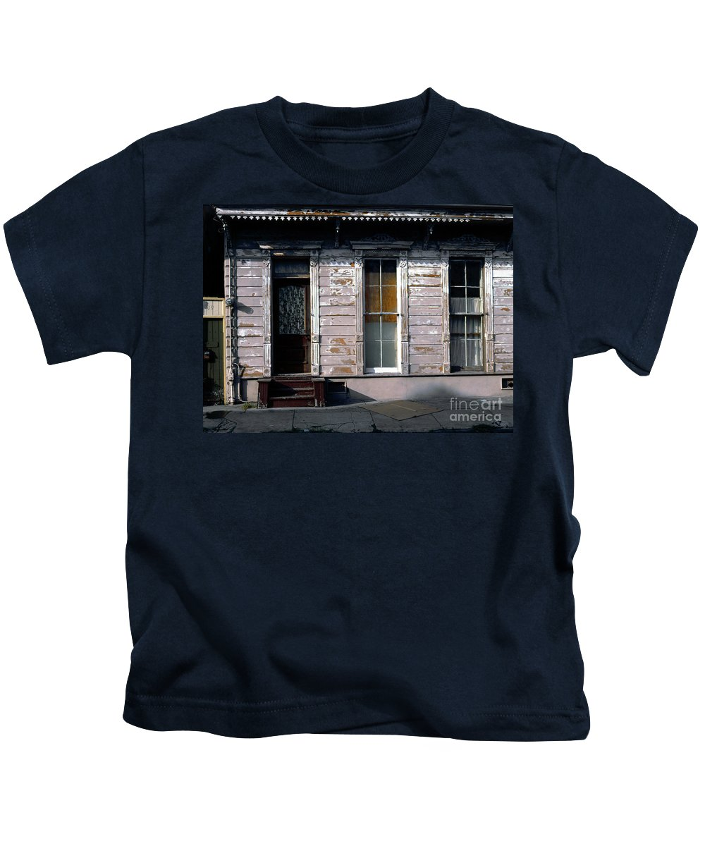 French Quarter Kids T-Shirt featuring the photograph Somewhere In The French Quarter by Mike Nellums