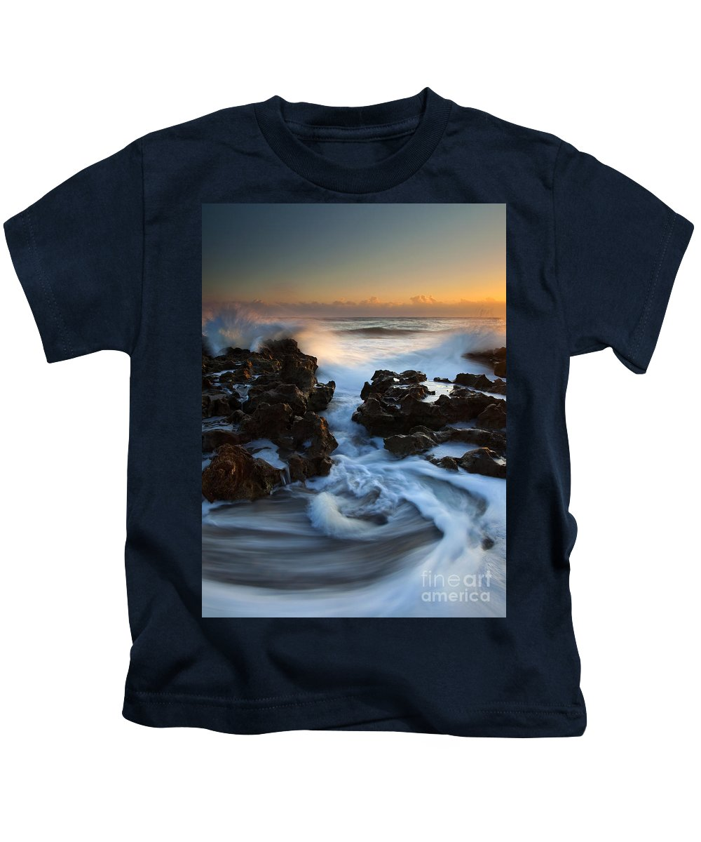 Coral Cove Kids T-Shirt featuring the photograph Splitting The Reef by Mike Dawson