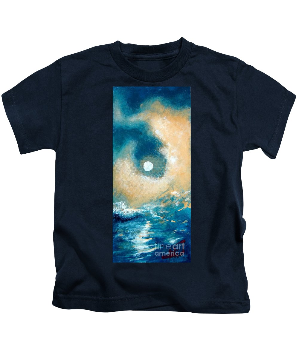 Nature Kids T-Shirt featuring the painting Storm by Ana Maria Edulescu