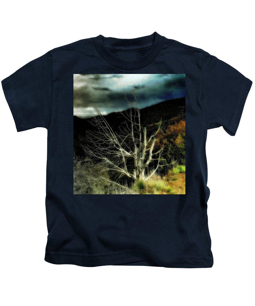Dead Tree Kids T-Shirt featuring the photograph Storm Over The Jemez Mountains by Ellen Heaverlo