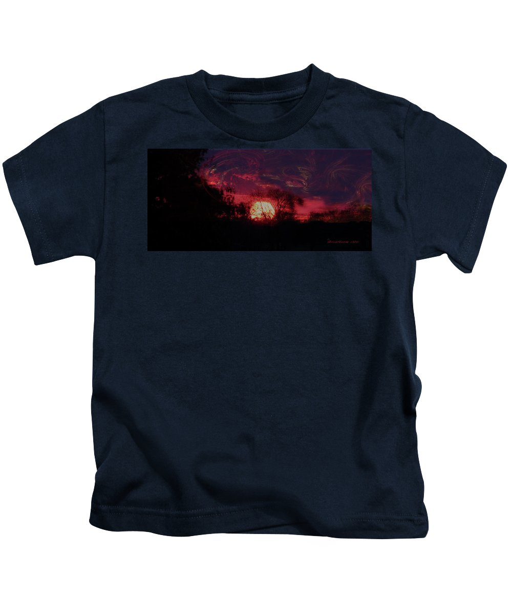 Sky Kids T-Shirt featuring the photograph Sunrise 12-19-11 by Ericamaxine Price