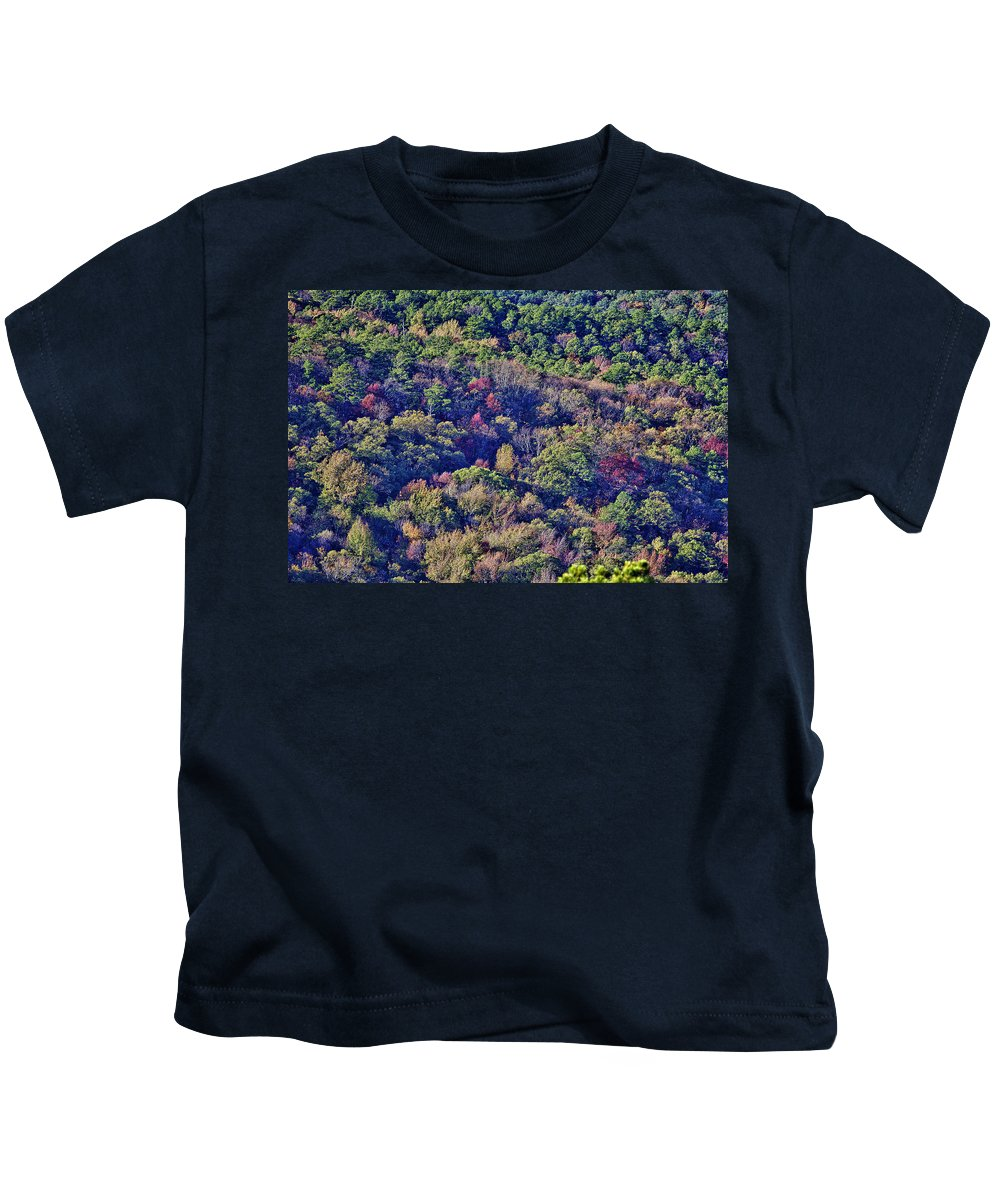 Queen Wilhelmina State Park Kids T-Shirt featuring the photograph The Colors Of Autumn by Douglas Barnard