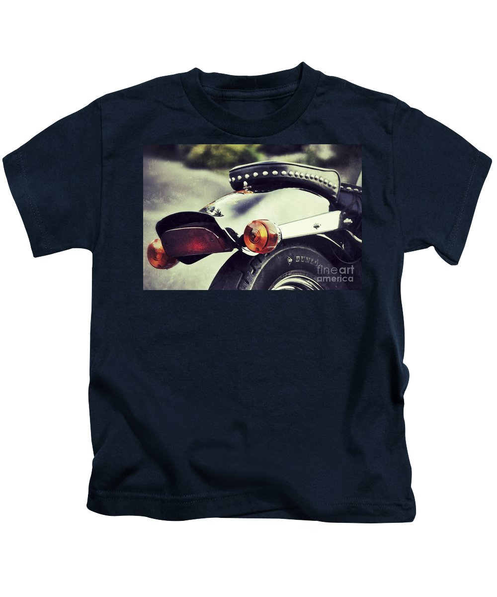 Motorcycle Kids T-Shirt featuring the photograph The End by Traci Cottingham
