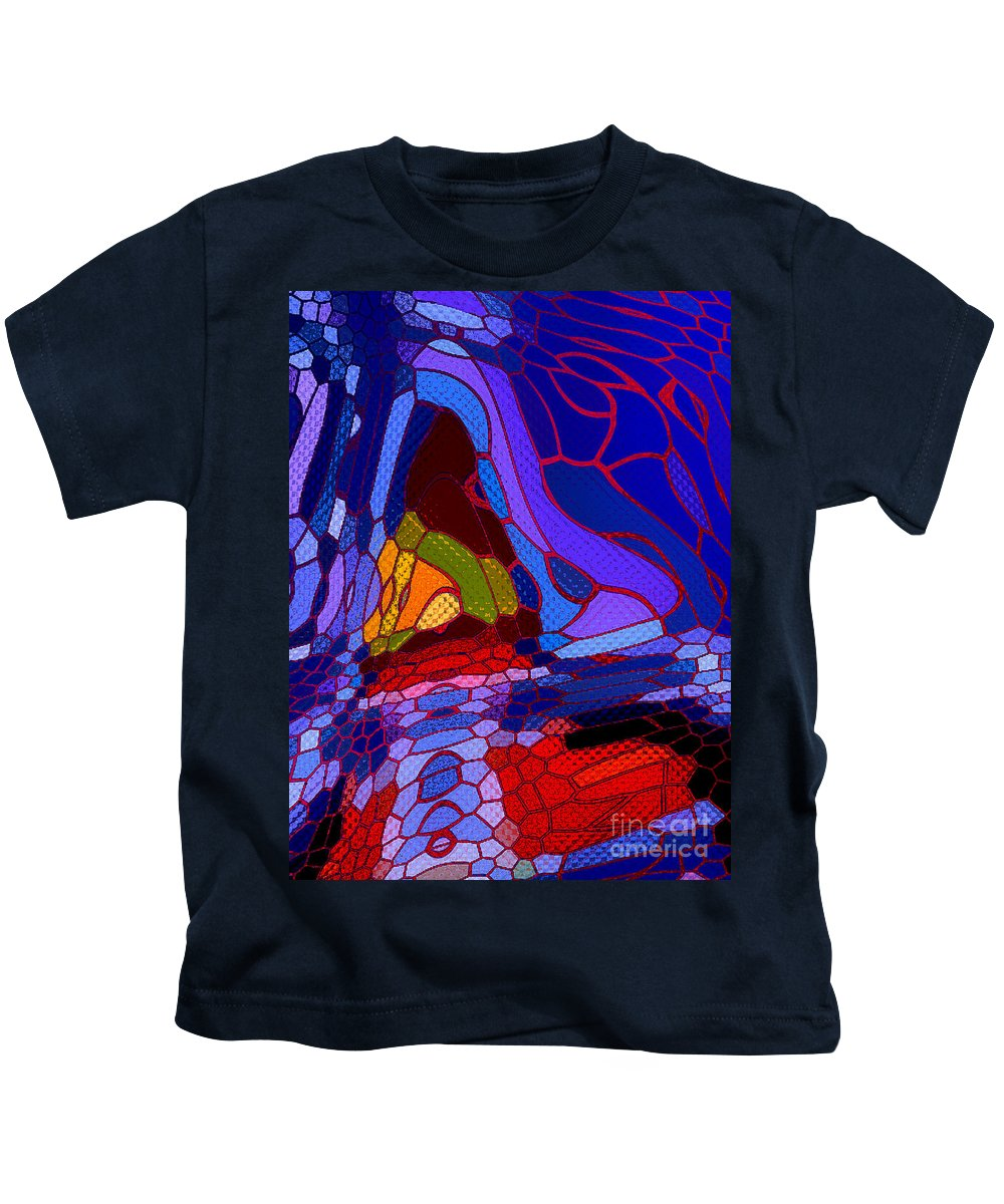 Dog Kids T-Shirt featuring the digital art The Inner Puppy by Tom Hubbard