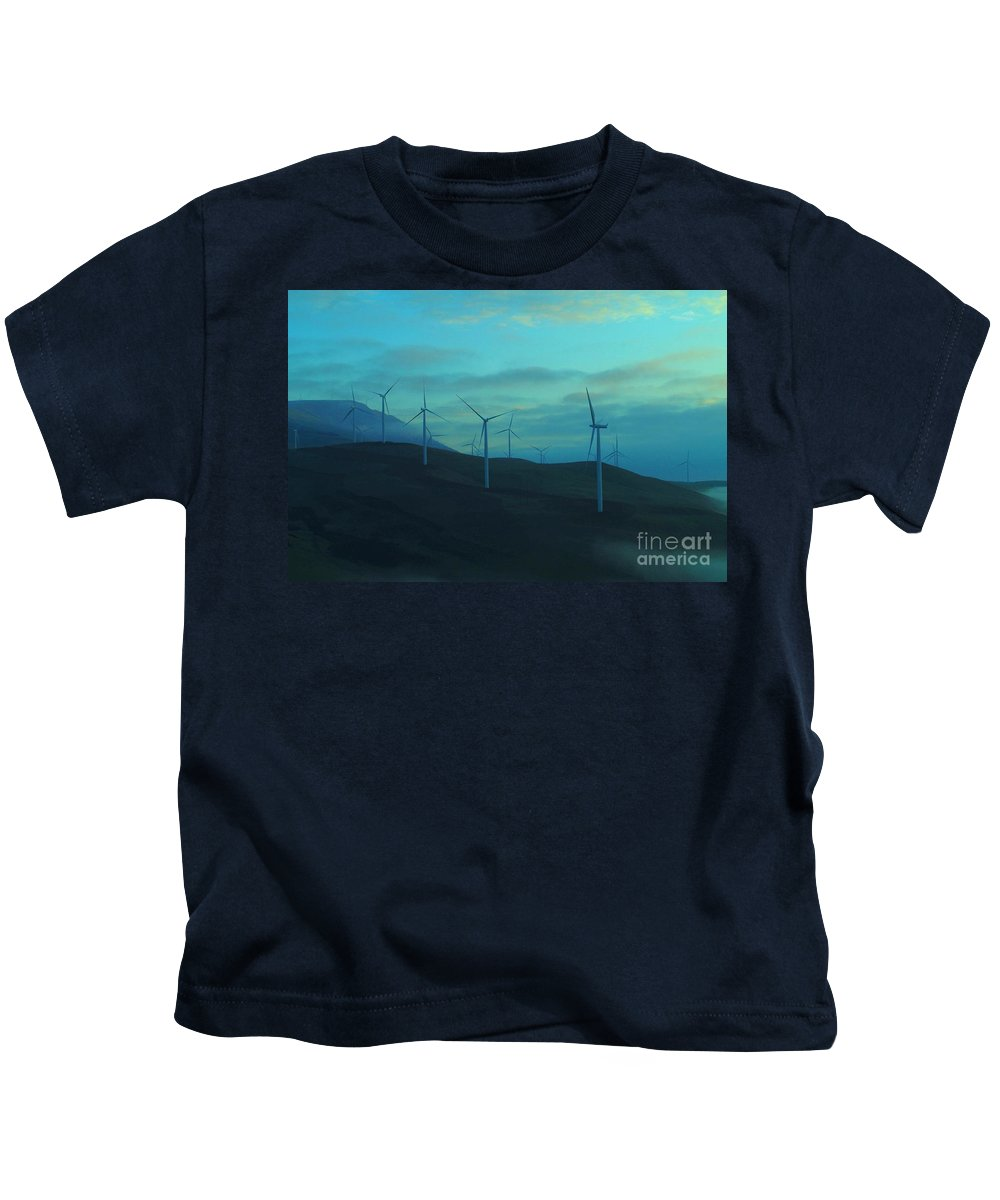 Wind Kids T-Shirt featuring the photograph The Promise Of Wind by Jeff Swan