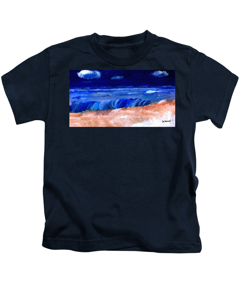Ocean Kids T-Shirt featuring the painting The Sea by Melvin Moon