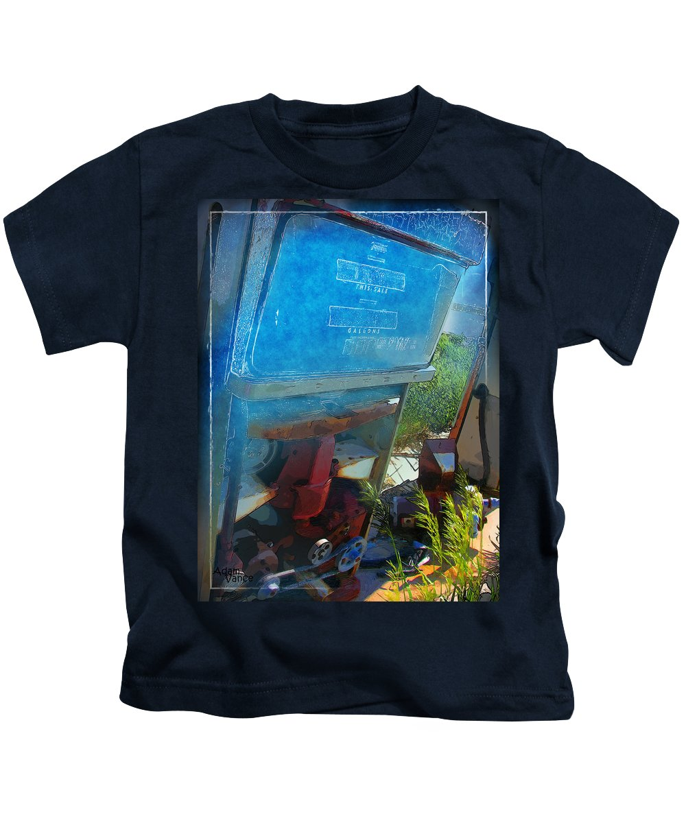 Gas Pumps Kids T-Shirt featuring the photograph This Sale by Adam Vance