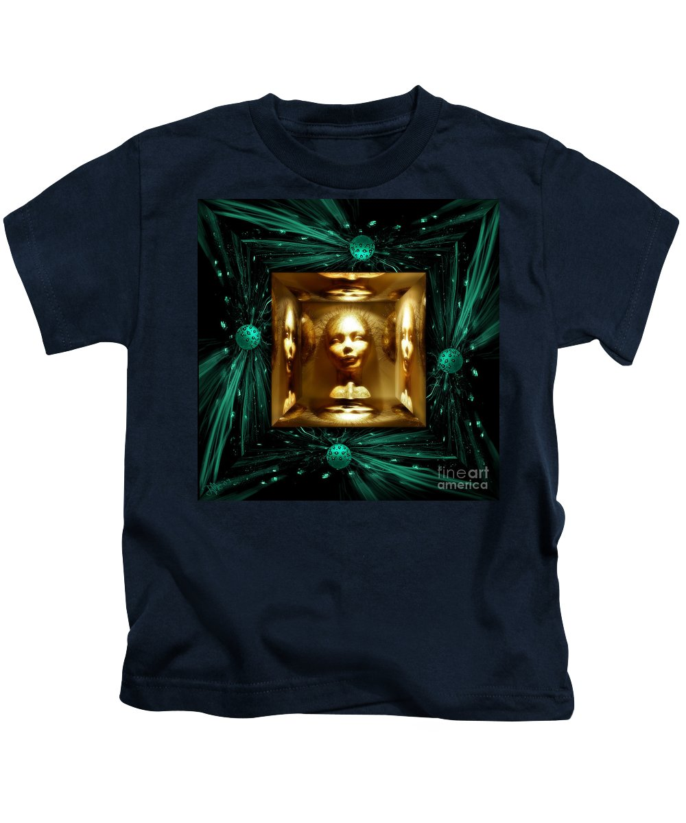 Fantasy Kids T-Shirt featuring the digital art Thoughts Mirror Box by Rosa Cobos