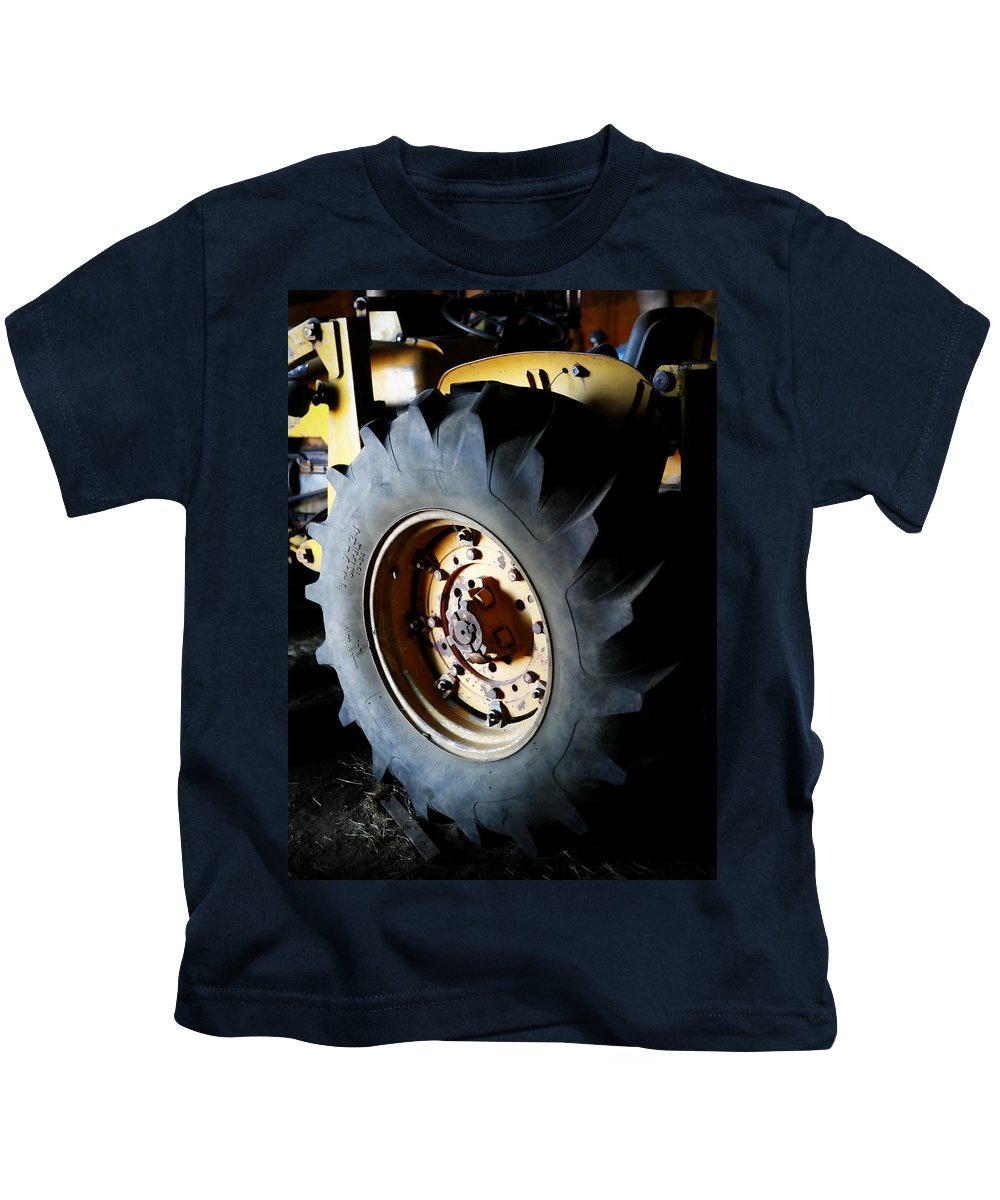 Cherryvale Kids T-Shirt featuring the photograph Tractor Tread by Marilyn Hunt