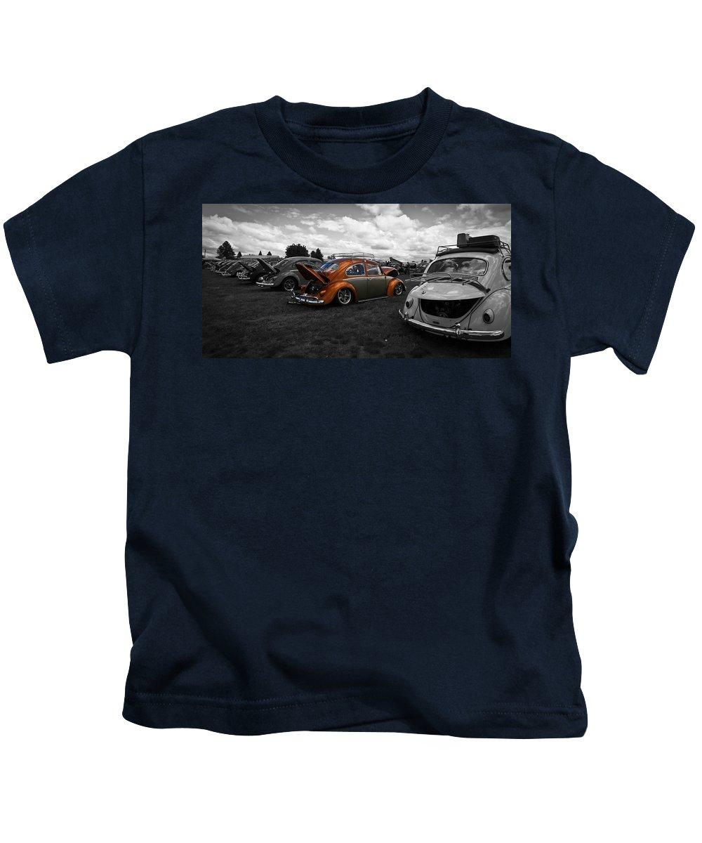 Vw Bug Kids T-Shirt featuring the photograph Vw Shining Through by Steve McKinzie