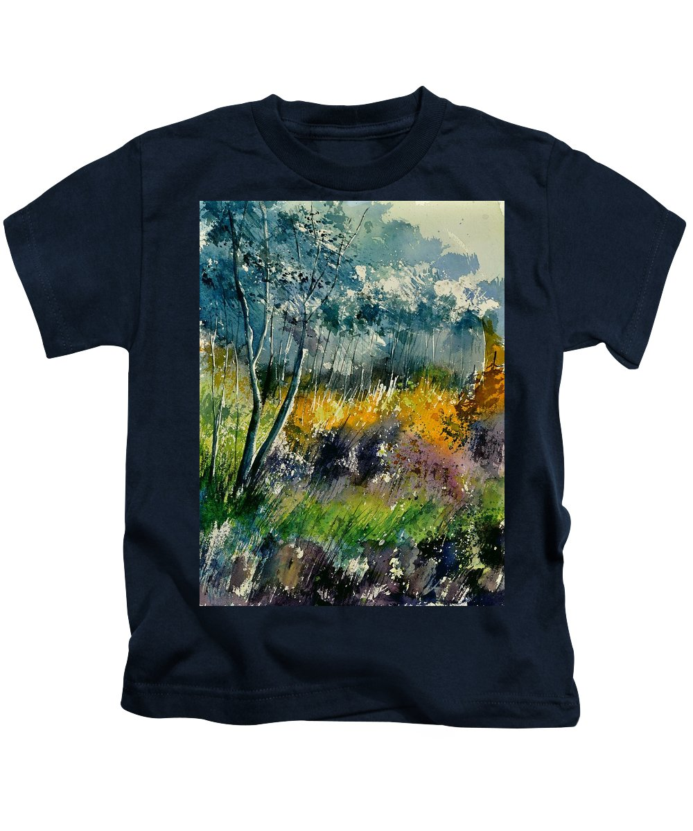 Landscape Kids T-Shirt featuring the painting Watercolor 216050 by Pol Ledent