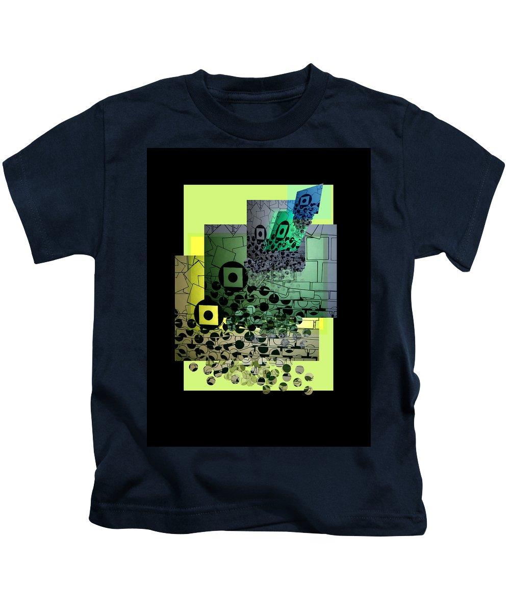 Shape Layering Kids T-Shirt featuring the digital art Waterfall by Markus Blaus