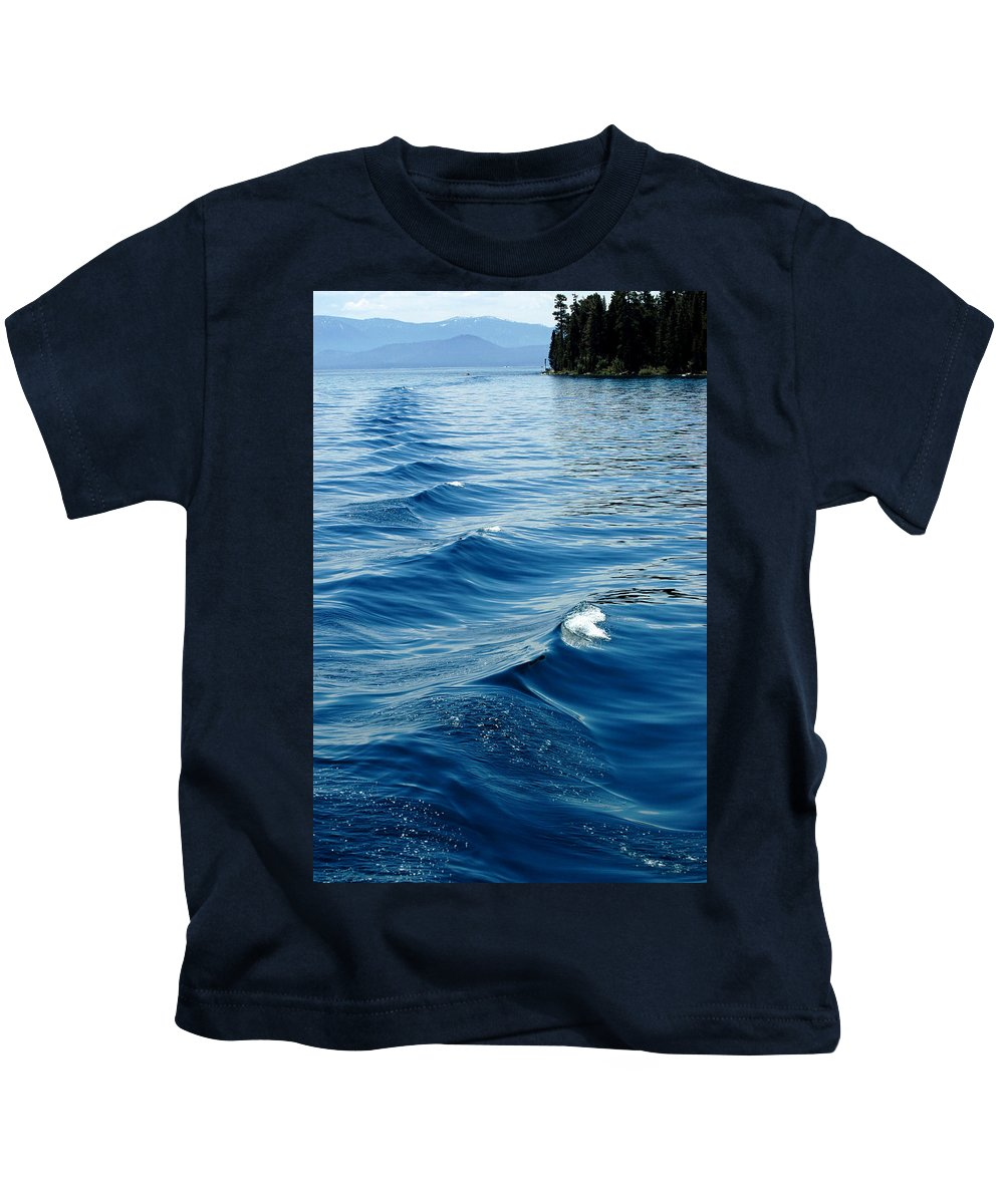 Usa Kids T-Shirt featuring the photograph Waves On Tahoe by LeeAnn McLaneGoetz McLaneGoetzStudioLLCcom