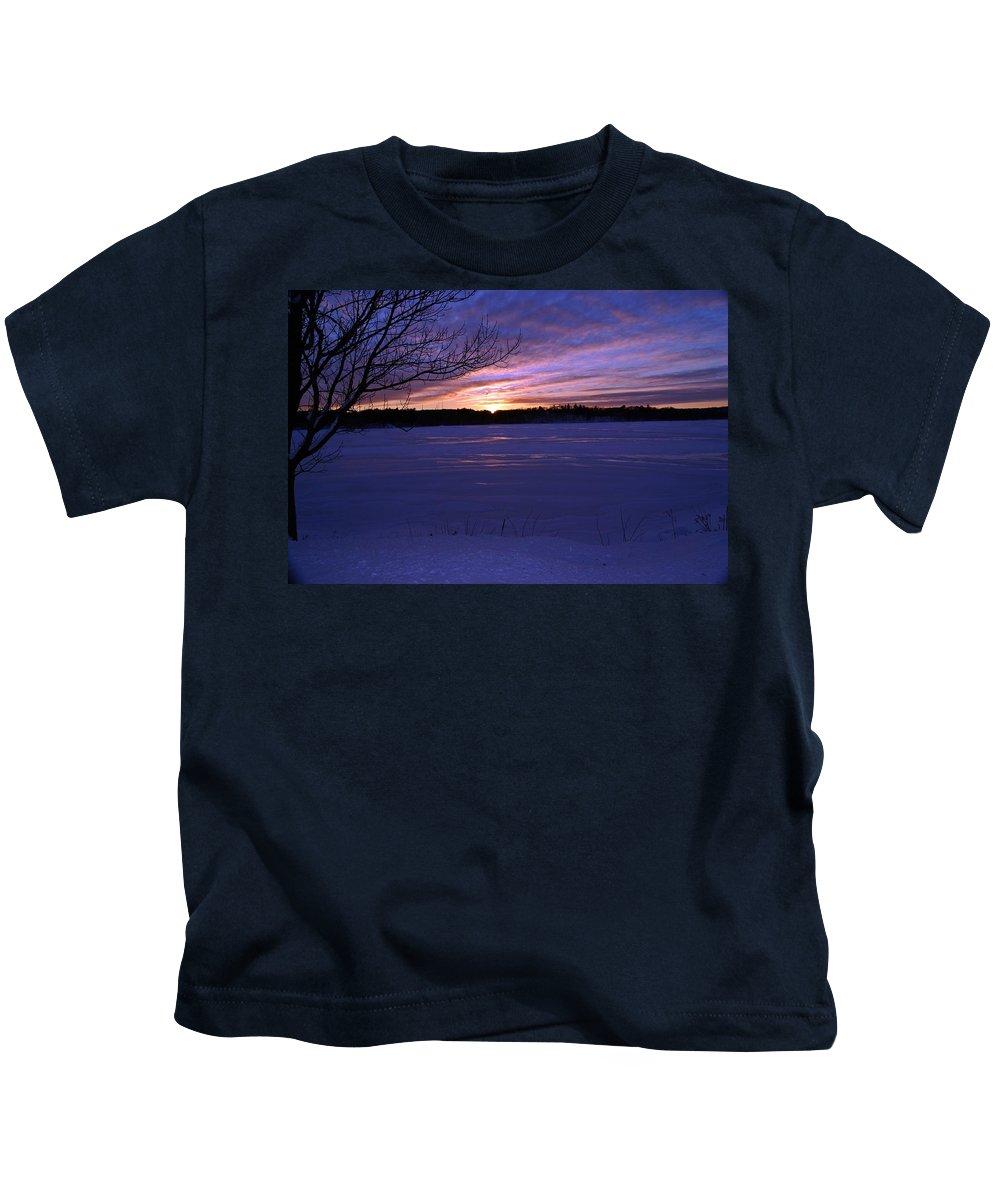 Winter Kids T-Shirt featuring the photograph Winter Sunset III by Joe Faherty
