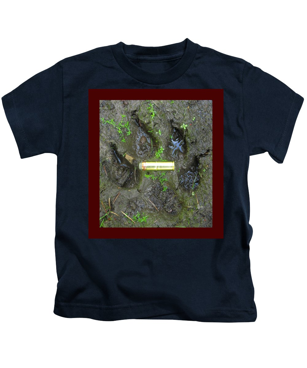 Forest Kids T-Shirt featuring the photograph Wolf Track by One Rude Dawg Orcutt