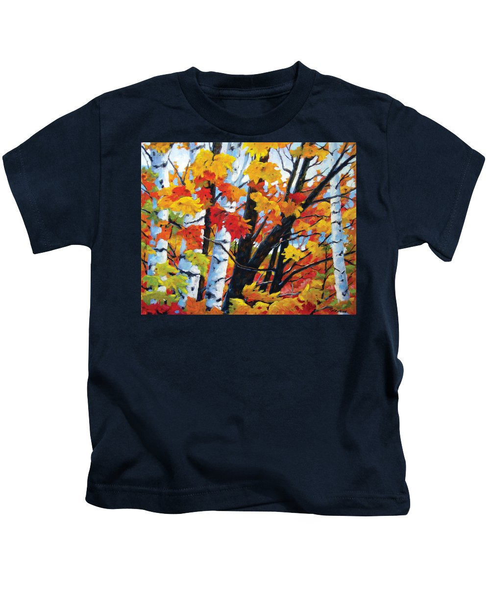 Art Kids T-Shirt featuring the painting A Touch Of Canada by Richard T Pranke