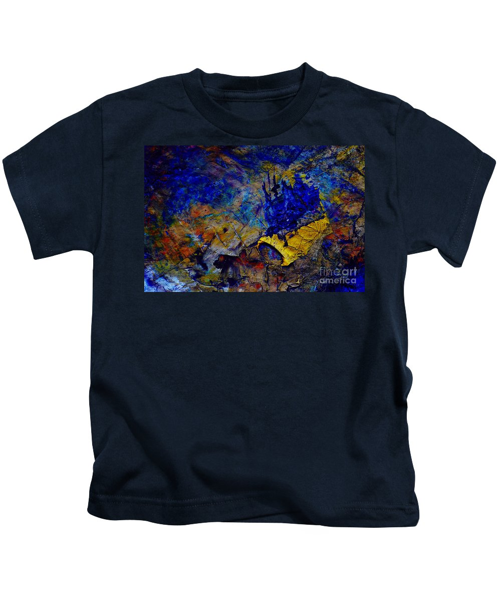 Paint Dry Kids T-Shirt featuring the painting Abstract by Michal Boubin