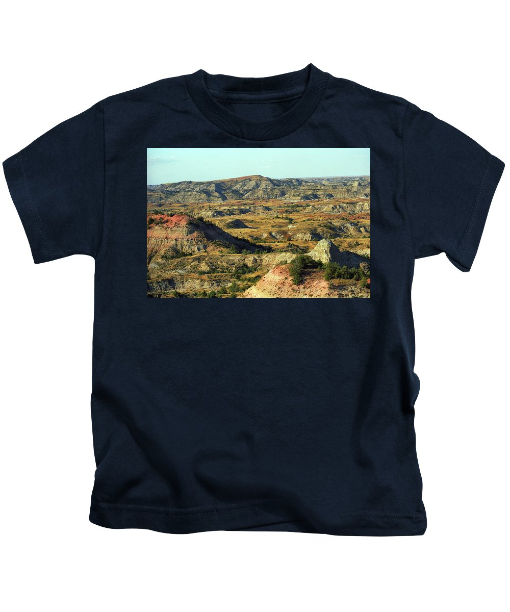 Art Kids T-Shirt featuring the photograph Badlands by Frank Romeo