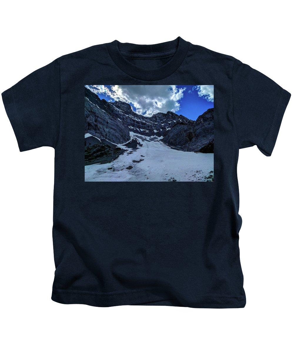Cascade Kids T-Shirt featuring the photograph Cascade Mountain by Matthew Kittens
