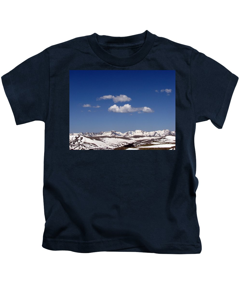 Mountains Kids T-Shirt featuring the photograph Colorado by Amanda Barcon